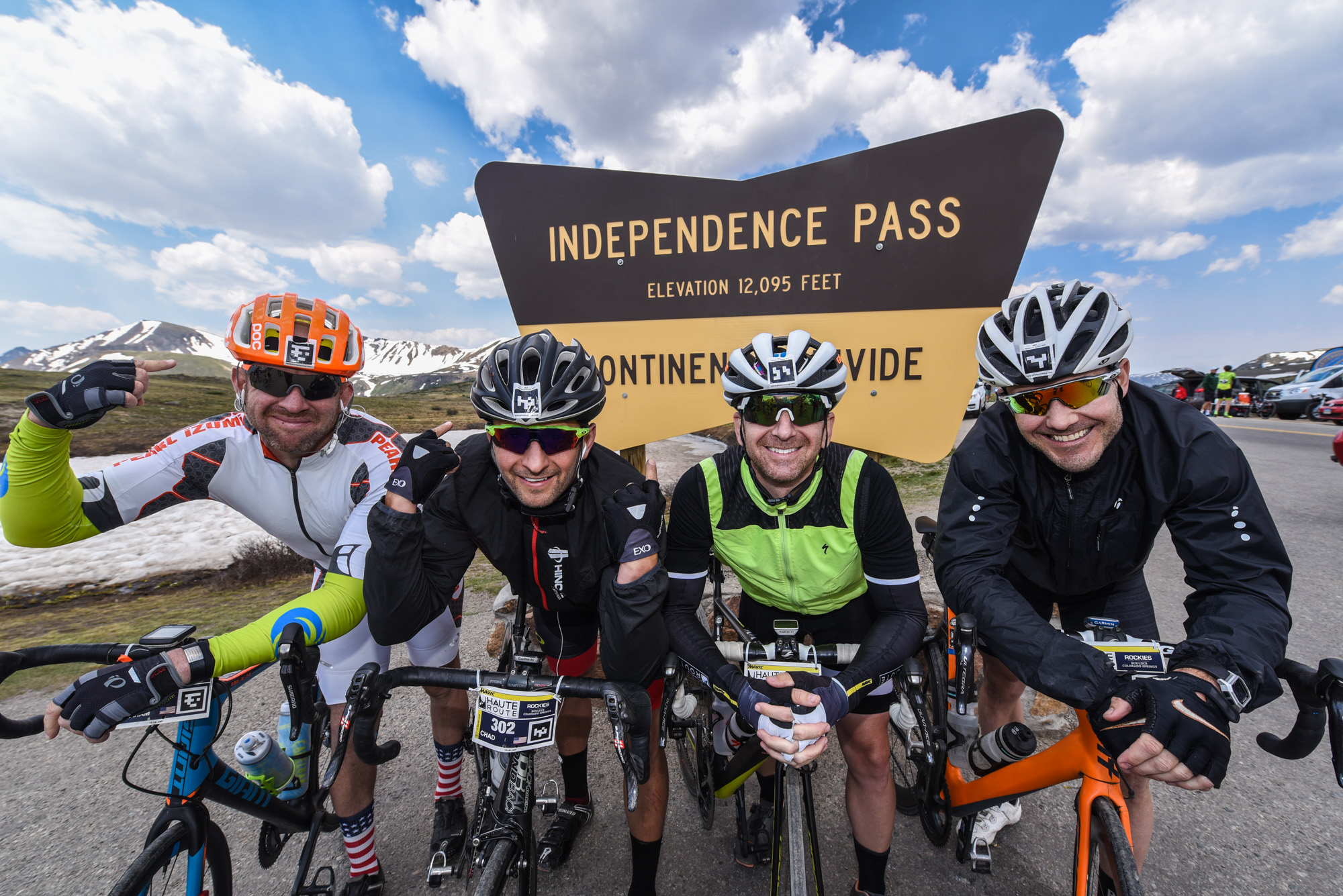 Independence Pass - The highest col ridden on an Haute Route to date