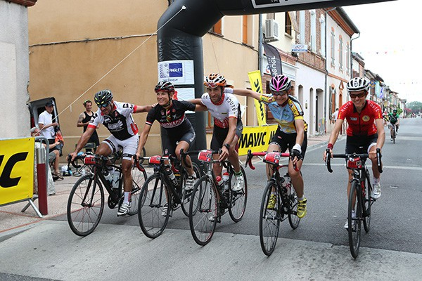 Triumph in Toulouse for the Haute Route Pyrenees peloton