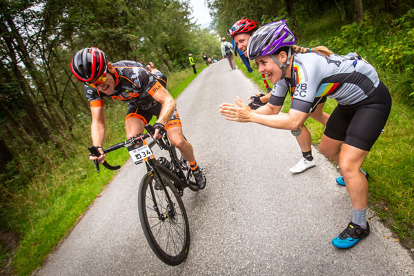 Riders Cheer Each Other On to Haute Route Norway Finish Atop Final Steep Climb