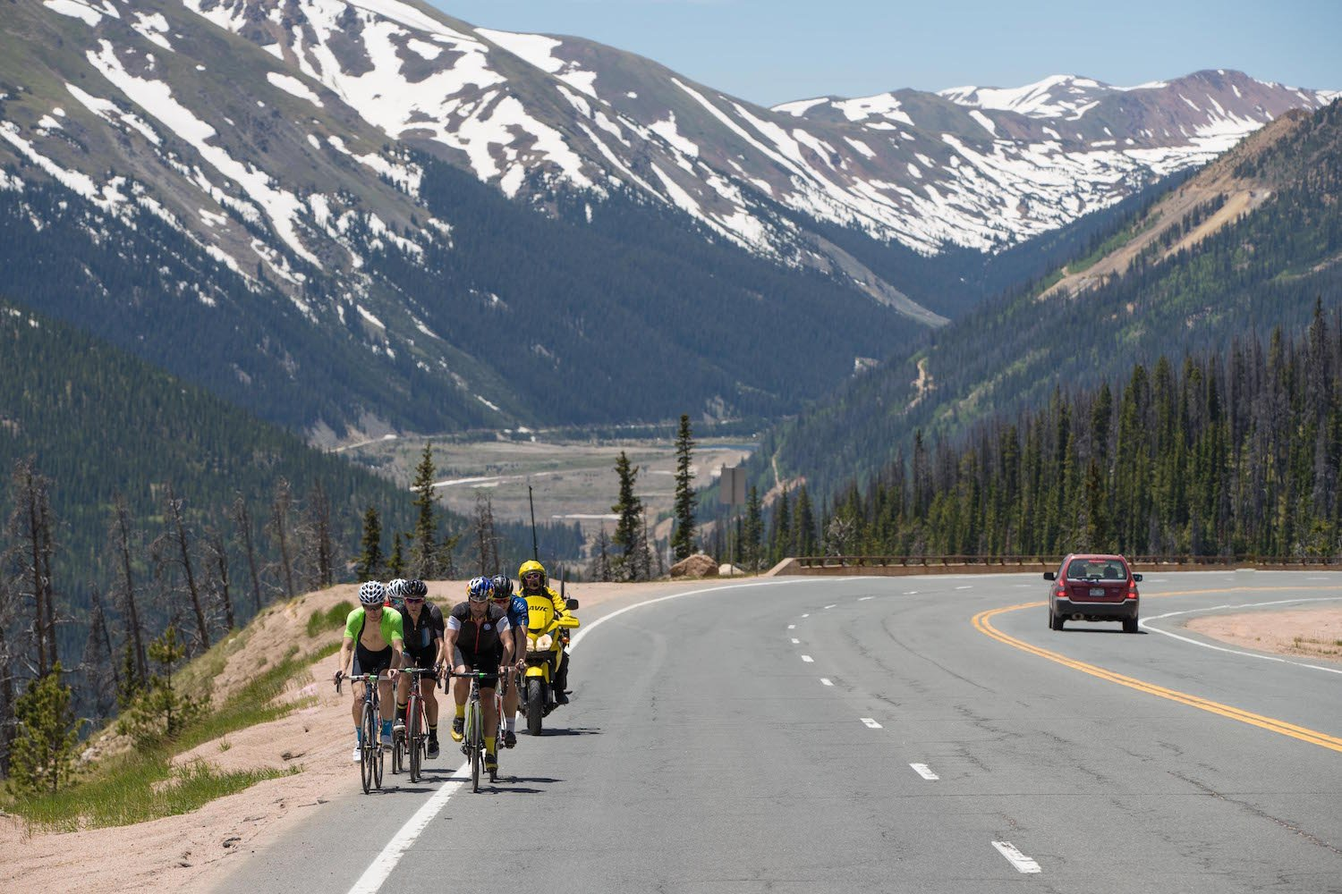 magnolia drive and then berthoud pass which summits at 3 446 metres 11 307ft stage three from winter park to avon is longer with three climbs but