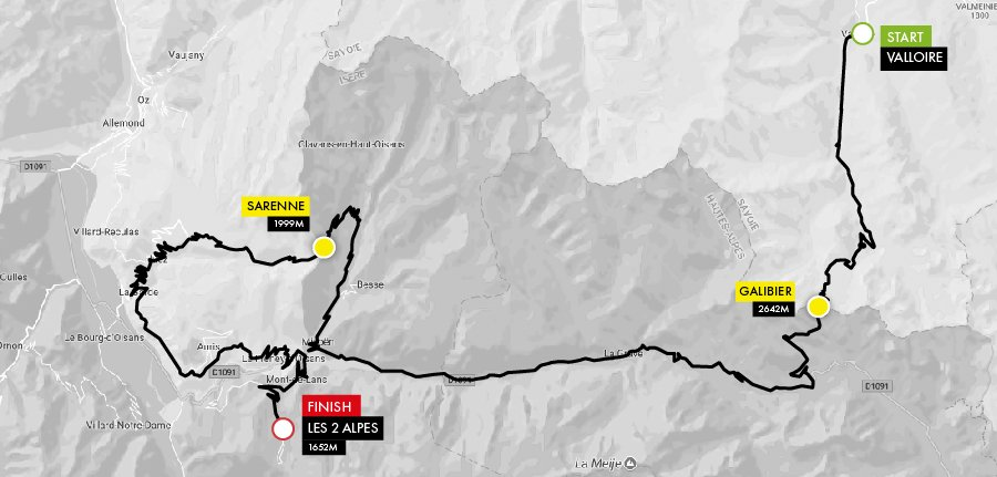 Haute route alps 2018 valloire les 2 alpes stage for Haute route 2018